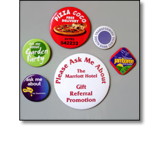 Acetate button badges