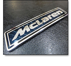 Automotive badge - Carbon fibre effect