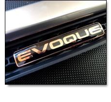 Automotive badges - JLR Evoque