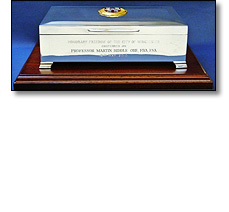Silver civic casket for a president