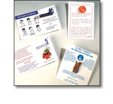 Charity badges and cards