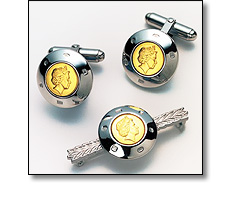 Corporate Jewellery - Silver & gold cufflinks