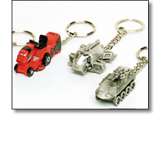 Corporate merchandise - Key chains, Modelled