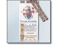 Illuminated Freedom Scroll detail - Eastleigh