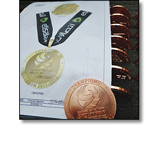 Design for a medal on a collarette