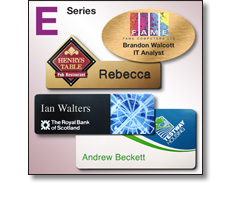 E series (Engraved Panel) name badges by Fattorini