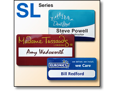 Slim line (SL) series name badges by Fattorini