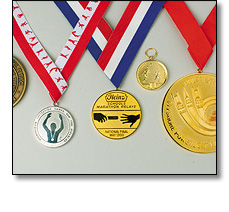 Various sports medals