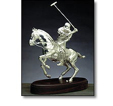 Objets d'art - Silver polo player
