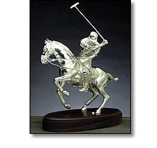 Objets d'art - Silver polo player