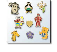 pin badges by Fattorini