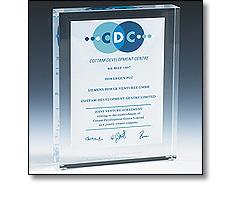 Acrylic building award aka a
