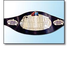 Celebrity wrestling sports belt