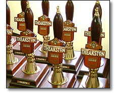 Diecast pump clips for Theakstones