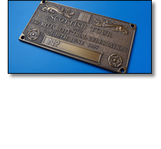 Metal engine plate