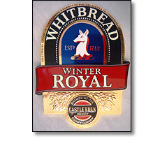 Injection moulded Pump clips for Whitbread winter royal