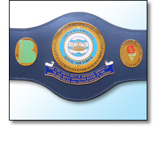 Len Smith Police boxing belt