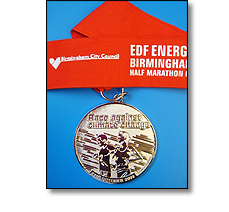 Running half marathon medal