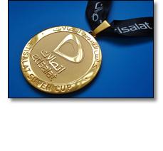 Etislat football medal