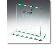 Traditional glass award