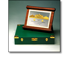 Wooden plaque and case