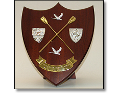 Wooden shield for rowing