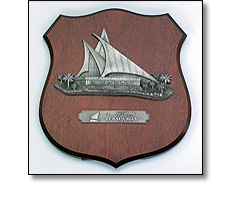Wooden shield for Dubai Creek Golf club