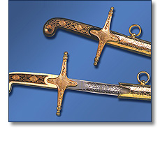Ceremonial scimitar swords - Detail