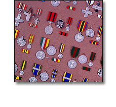 Military Medals on Ribbons