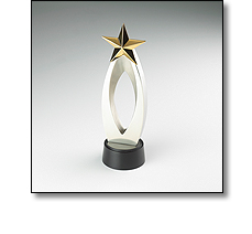 Winners star trophy by Fattorini