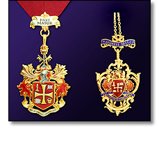 Civic insignia - Past Mayor Mayoress pendants
