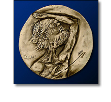 Portrait medal by Ronald Searle