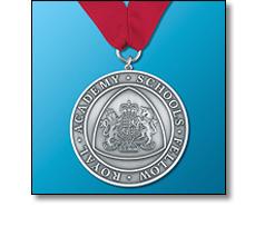 Royal Academy medal on a collarette