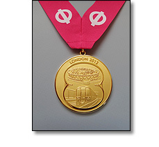 Commemorative medal on a special collarette