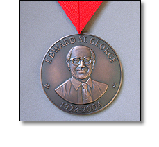 University medal on a collarette