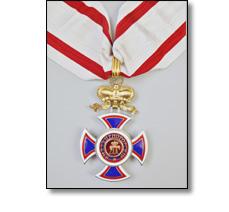 State insignia on a collarette