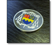 Minted coin for a School