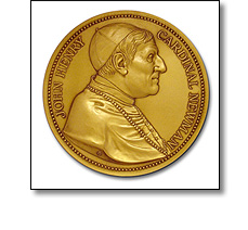 Portrait Medal of Cardinal Henry Newman by Fattorini