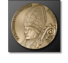Portrait medal of a Bishop Elphinstone by Fattorini