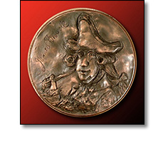 Portrait medal of James Boswell by Fattorini