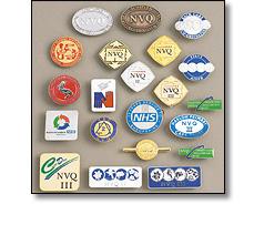 Qualification badges - NVQ, NHS