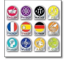School S13 achievement badges
