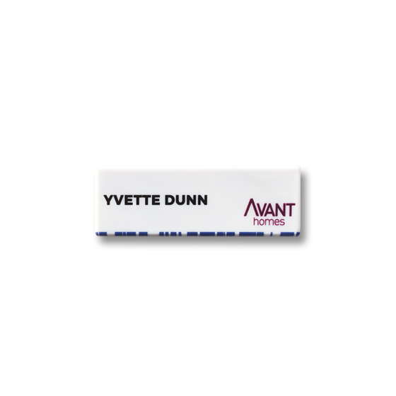 Employee name badge by Fattorini