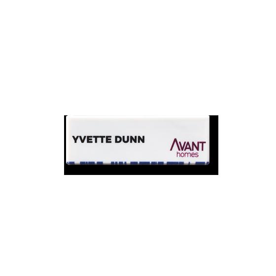 Employee name badge by Fattorini