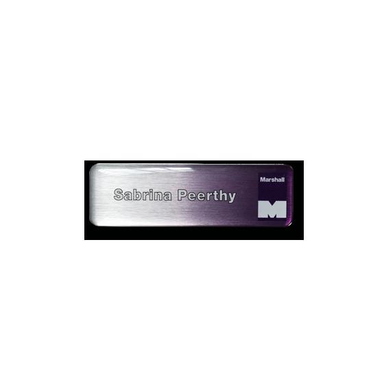 Company name badge by Fattorini