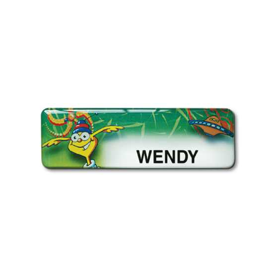 Nursery name badge by Fattorini