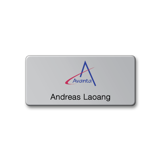 Corporate name badge by Fattorini