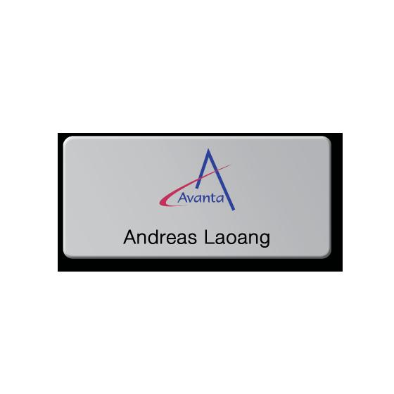 Corporate name badge by Fattorini