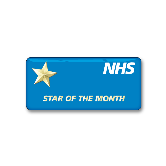 NHS badge by Fattorini