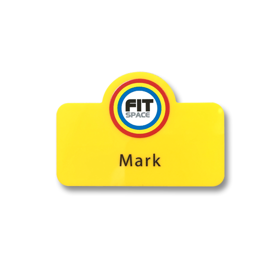 Fitness trainer name badge by Fattorini